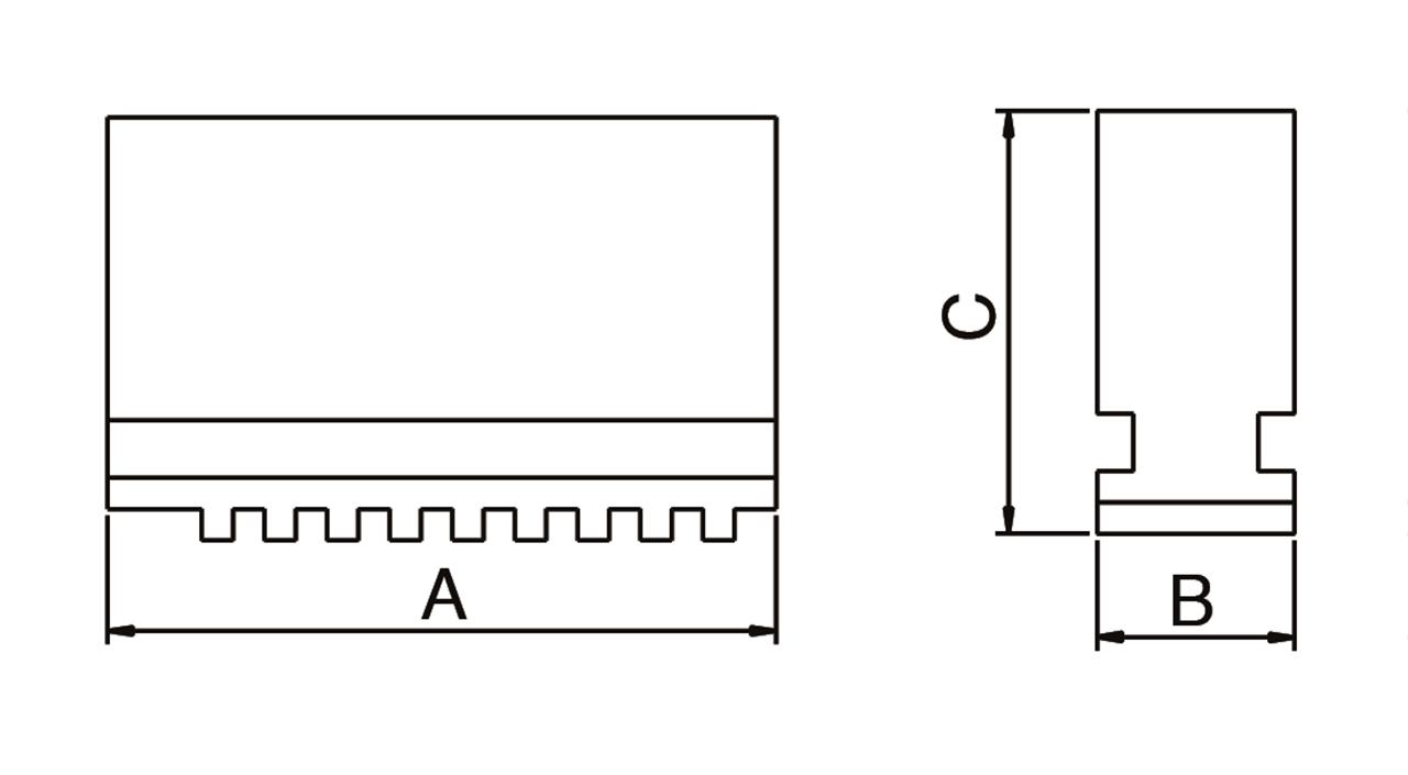 handelsunternehmen dineiger bernardo backen f r 4 backenfutter dk12 weiche monoblockbacken dsj. Black Bedroom Furniture Sets. Home Design Ideas